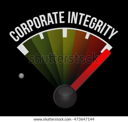 Corporate integrity meter sign concept illustration design graphic