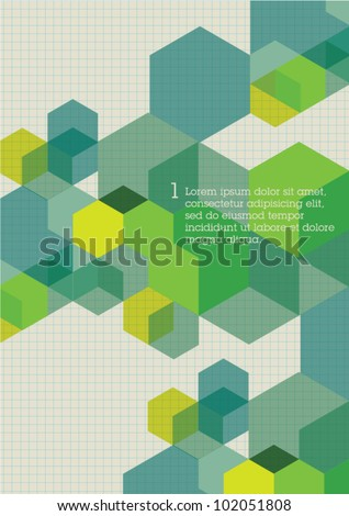 Corporate layout Cubes Design Visual Template - stock vector