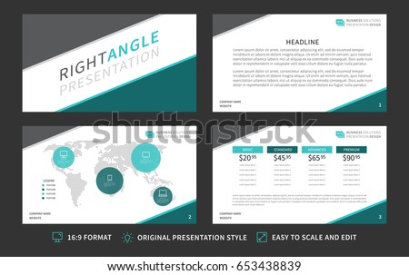 corporate presentation vector template modern business presentation 169 format graphic design minimalistic