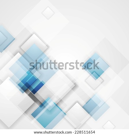Corporate shiny tech squares design. Vector background - stock vector