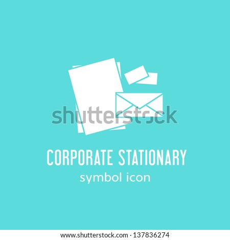 Corporate stationary symbol icon or Logo Template - stock vector