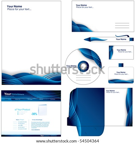 corporate style - stock vector