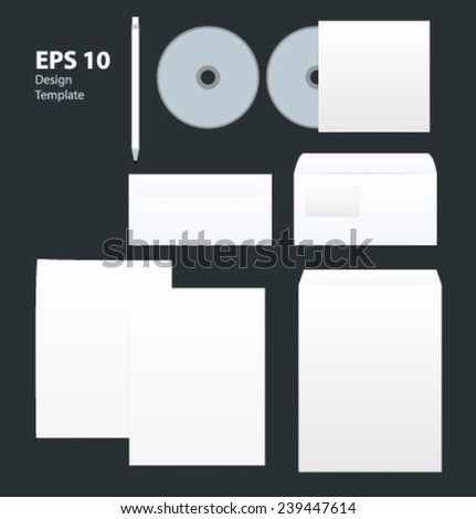 Corporate style design template. Vector. Editable. Blank. - stock vector
