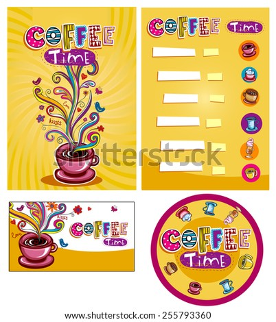 Corporate style for cafe or shop. - stock vector