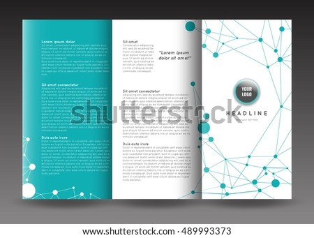 Corporate trifold brochure template design connection stock vector corporate tri fold brochure template design with connection abstract background corporate booklet stock saigontimesfo
