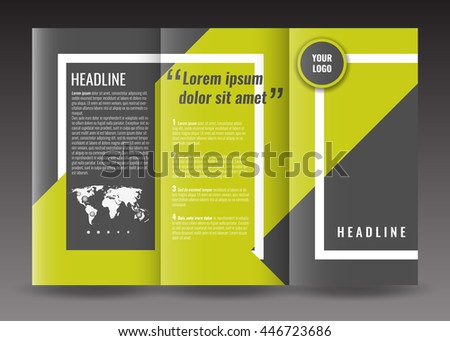 Corporate trifold brochure template design world stock vector hd corporate trifold brochure template design with world map infographic element frame and ribbon saigontimesfo