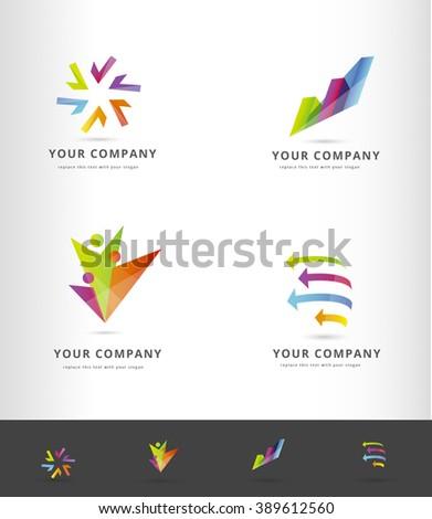 Corporate vector logo design collection  - stock vector
