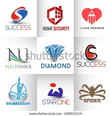 Corporate vector logo template set.  - stock vector