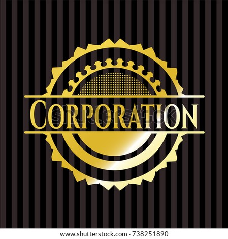 Corporation Gold Shiny Emblem Stock Vector 738251890 Shutterstock