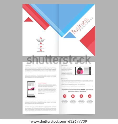 Corporative business annual report brochure template stock vector corporative business annual report brochure template or cover design with front inner or back wajeb Gallery