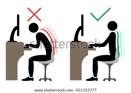 correct office back sitting