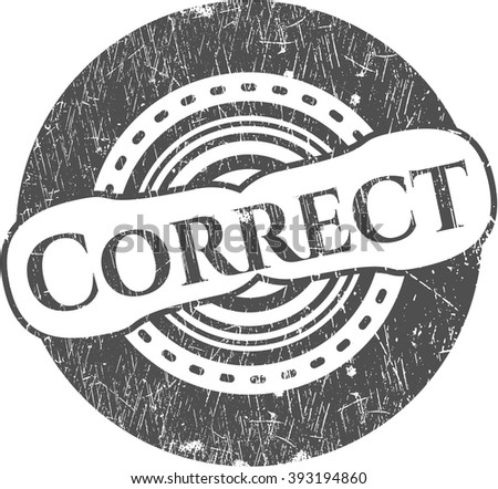 Correct rubber stamp - stock vector