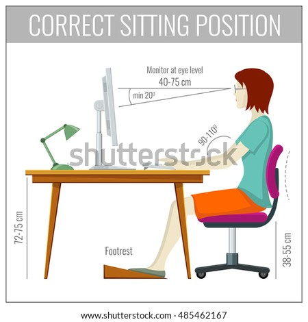 Sitting Posture Stock Images Royalty Free Images