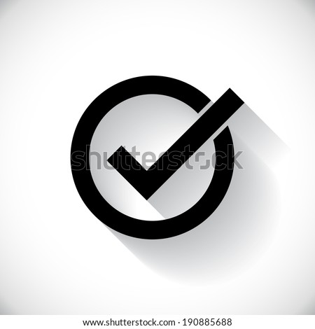 Correct symbol illustration - stock vector