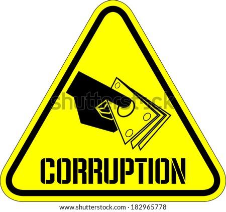 Corruption - stock vector