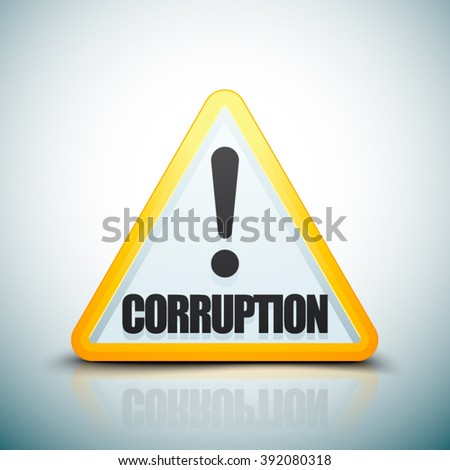 Corruption Hazard sign - stock vector