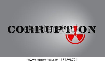 corruption symbol vector - stock vector
