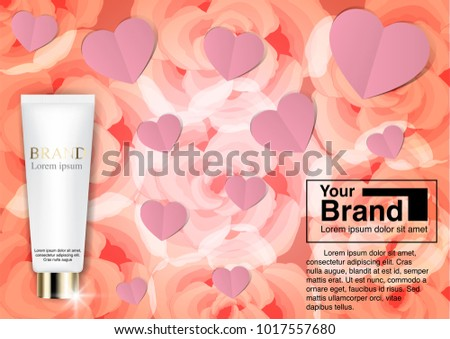 Cosmetic Ad Valentine Concept EPS 10 Vector Stock Vector 1017557680 ...