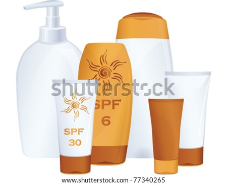Cosmetic bottles. Vector, illustration. - stock vector