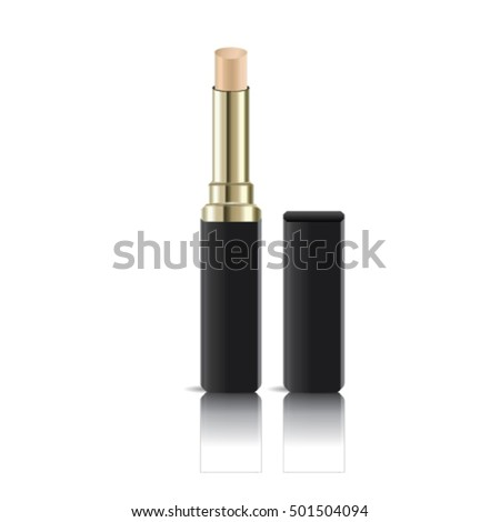 Cosmetic corrective concealer mock up. Mackeup, color palette, cosmetic, skin, toner vector illustration.