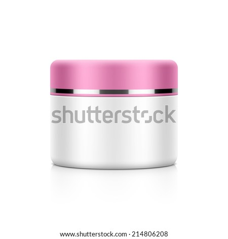 Cosmetic packaging, cream, powder or gel jar template for your design. Vector. - stock vector