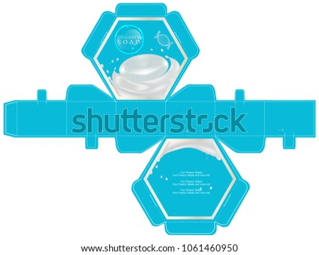 Cosmetic packaging 6 sided box design template stock vector cosmetic packaging 6 sided box design template vector illustration maxwellsz
