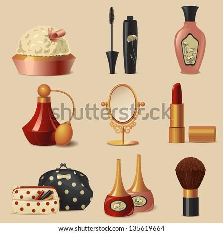 Cosmetic  set - stock vector