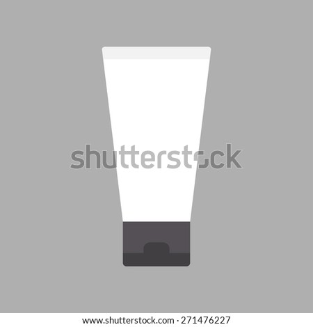 Cosmetic tube. Flat design. Vector illustration