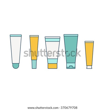 Cosmetic tubes. Vector illustration