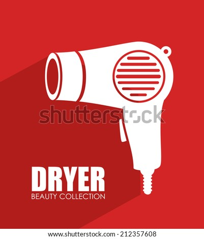 Cosmetics design over red background,vector illustration