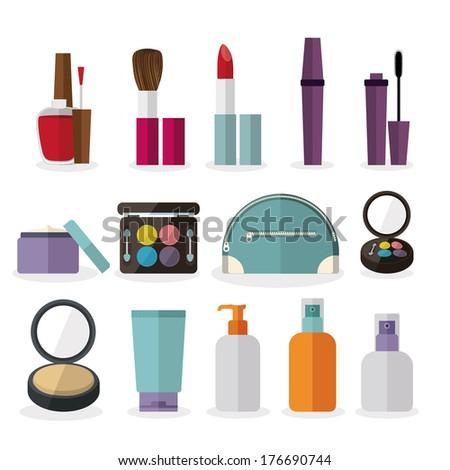 cosmetics design over  white background vector illustration - stock vector