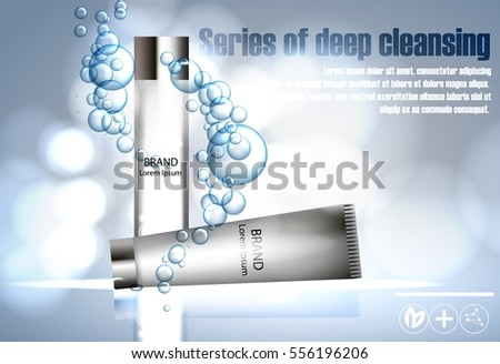Cosmetics Face Series Deep Cleansing Idea Stock Vector 556196206 ...