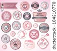 Cosmetics labels and badges - stock vector