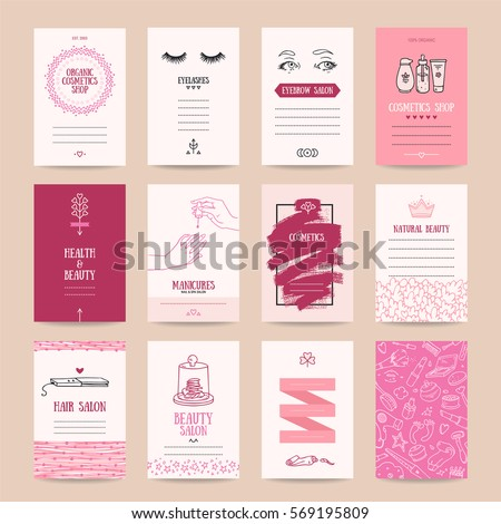 Cosmetics shop business card beauty parlor stock vector 569195809 cosmetics shop business card beauty parlor invitation nail salon flyer spa procedures poster colourmoves
