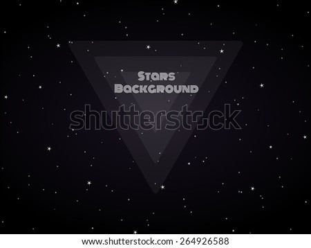 Cosmic background starry sky. Vector illustration. - stock vector