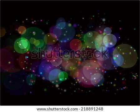 cosmic following - stock vector