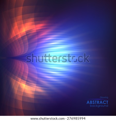 Cosmic shining vector abstract background - stock vector