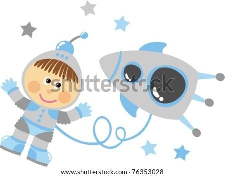 Cosmonaut - stock vector