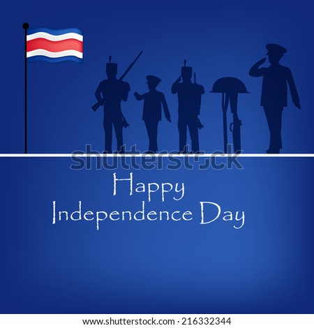 Costa Rica Independence Day background