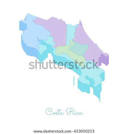 Costa Rica Region Map Stock Images RoyaltyFree Images Vectors - Costa rica regions map