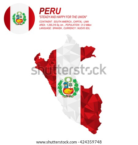 Costa Rican flag overlay on Costa Rican map with polygonal style.(EPS10 art vector) - stock vector