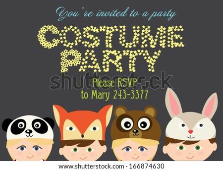 Costume Party Invitation Vector 166874627 Shutterstock – Costume Party Invitation