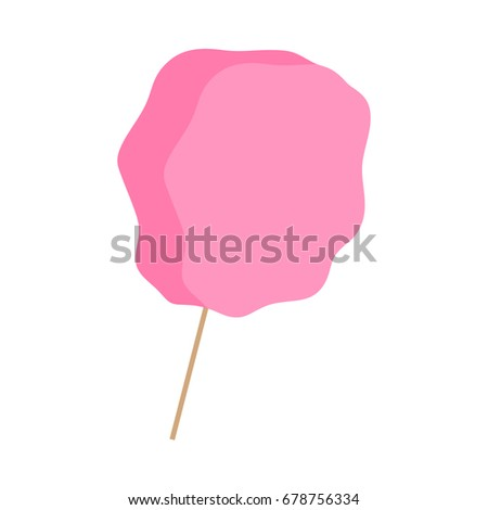 Cotton candy vector illustration graphic, isolated candy floss icon on white background.