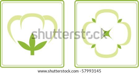 Cotton (Gossypium). - stock vector