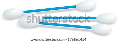 cotton swabs - stock vector