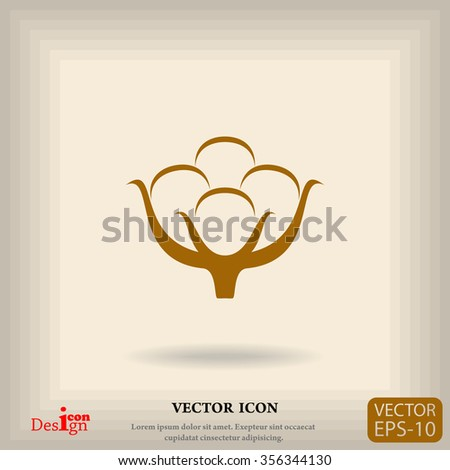 cotton vector icon - stock vector
