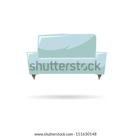 Couch abstract isolated on a white backgrounds.Vector illustration - stock vector