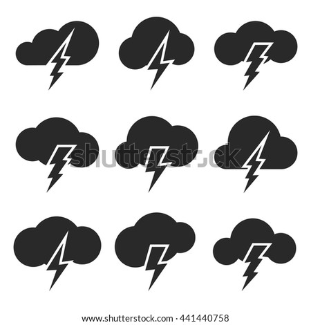 Coud lightning icon. Vector illustration - stock vector