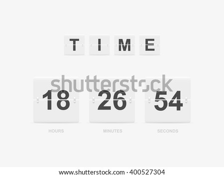 Countdown Board and timer - stock vector