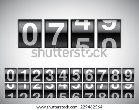 Counter with all numbers. - stock vector